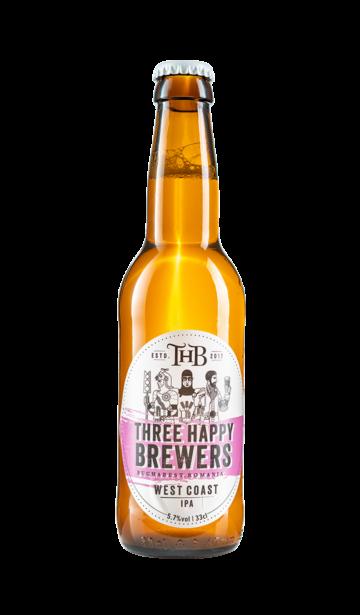 Three Happy Brewers - West Coast IPA   www.artizanbeer.ro  